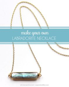 This DIY labradorite necklace is the perfect addition to any summer jewelry collection. #DIY #Accessories