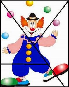 Sempre criança: Carnaval Preschool Circus, Circus Activities, Toddler Activities, Preschool Activities, Clown Crafts, Circus Crafts, Drawing For Kids, Art For Kids, Crafts For Kids