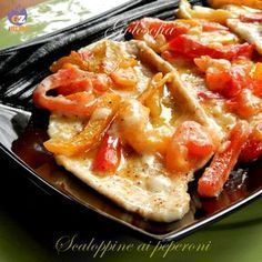 Scaloppine ai peperoni, molto gustose e saporite; rapidissime da preparare!