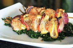 Terapia do Tacho: Espetada de salmão (Salmon kebab)