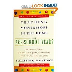 Looks like a very helpful manual for anyone who wants to offer the Montessori approach in their home.
