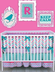 Caden Lane Ikat Collection Ryleigh Crib Bedding Set by Caden Lane, http://www.amazon.com/dp/B0084X9PVU/ref=cm_sw_r_pi_dp_iTe6rb0NAHNKS
