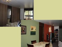 Use starch to put fabric over wood paneling in a rental!