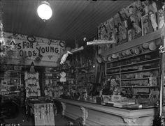 Interior of toy shop and variety store at Christmas / Intérieur d'un magasin de jouets et de variétés à Noël | by BiblioArchives / LibraryArchives