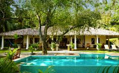 Satori Villa, Galle, Sri Lanka. Satori Villa is set high on a hill at the jungles edge surrounded by 1.75 acres of landscaped gardens, lawns and carp filled ponds.