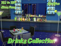 TS2 to TS4 Drinks Collection by Sim4fun at Sims Fans via Sims 4 Updates