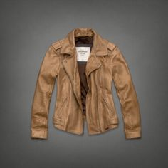 Womens Kaylin Leather Jacket | Womens Outerwear | Abercrombie.com