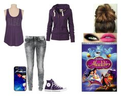 """""""Disney Music Challenge: Day 5"""" by ilovecats-886 ❤ liked on Polyvore featuring Disney, Converse and Fat Face"""