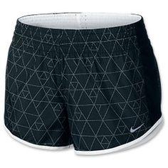 Women's Nike Printed Racer Shorts| Finish Line | Black/White/Reflective Silver $32 LOVE