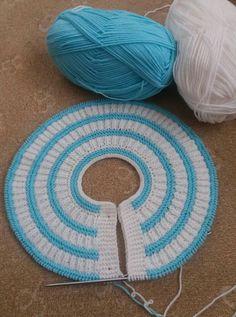 80 ilmek demiryolu örneği Baby Knitting, Kids Rugs, Decor, Cowl, Hand Crafts, Vestidos, Bed Covers, New Ideas, Baby Born