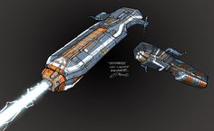 Ion cannon frigate - Dave Cheong for HW2