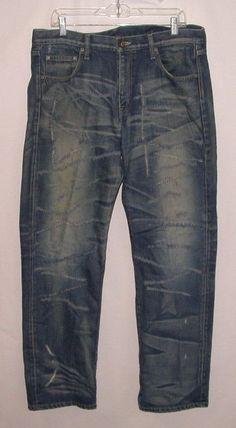 72059678d1 Neighborhood Mens Savage Level 4 Selvedge Denim Basic Straight Jeans Large
