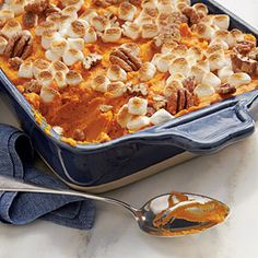 Sweet Potato-Carrot Casserole - 102 Best Thanksgiving Side Dish Recipes - Southern Living - Giving thanks, Thanksgiving Recipes pinned by Dr Craig Menker's Office. Carrot Casserole, Sweet Potato Casserole, Sweet Potato Recipes, Casserole Recipes, Breakfast Casserole, Potato Cassarole, Yam Recipes, Recipies, Corn Casserole