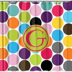 Personalized Shower Curtain  Monogrammed Jumbo by limerikeedesigns, $65.00