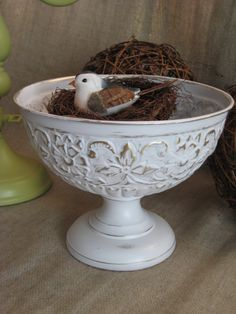 Painting silver plate for that shabby chic look