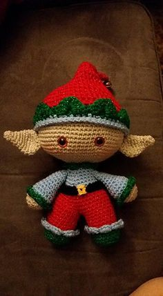 Ravelry, #crochet, free pattern, amigurumi, doll, elf, stuffed toy, Christmas…