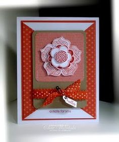Stampin' Up Card - Raining Flowers