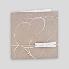 Hochwertige Einladungskarte,mit Band Und Silbernem Foliendruck. Höhe:  CmBreite: Cm Umschlag: Inklusive, Weiß Ohne Texteindruck. Alle Karte