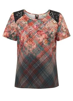 The 90s Check Floral Top #yumi #aw14