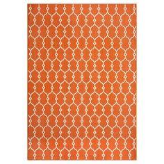 Indoor/Outdoor Orange Trellis Rug (5'3 x 7'6) | Overstock.com Shopping - The Best Deals on 5x8 - 6x9 Rugs