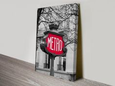 Paris-Metro-Black-and-White-Art-Print-on-Canvas