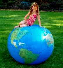 This giant inflatable Earth Ball would be so much fun to play with!