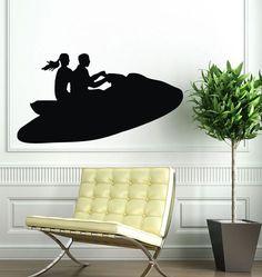 Wall Decals Vinyl Decal Sticker Art Mural Decor Water Motorcycle Design Kj667