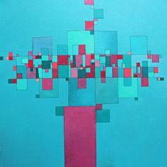 "Saatchi Art Artist Deborah Batt; Painting, ""Community 9 acrylic on canvas 40x40x2 in"" #art"