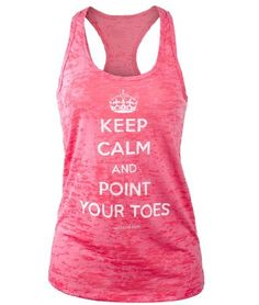 Amazon.com: Covet Dance Clothing - Keep Calm and Point Your Toes - Burnout Tank: Clothing - $24