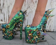 Dragon Shoes - ridiculously wonderful!    My ex was so short, I couldn't wear heels, it looked ridiculous, these days I can!