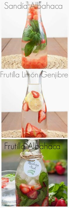 Aguas-saborizadas. Naturales y hechas en casa. Sígueme en https://www.facebook.com/pages/Sanas-y-Lindas/300496483470499