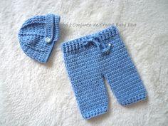 Conjunto de Crochê Baby Blue artelinharj@gmail.com 62 98146.4188