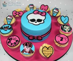 Monster High Cake and Cupcakes