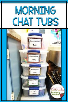 "Morning Tubs are a great alternative to morning work! Students can chat, create, explore, and play before starting their busy academic day. Hands-on, free form activities are a great way for young children to have a ""soft start"" to their day. Check out this blog for ideas, tips, and tricks to get started in your elementary classroom."