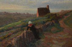 """Suzanne Camille Désirée Fremont 1876-1962 """" Bretonne près de La Chapelle """" 1904"""