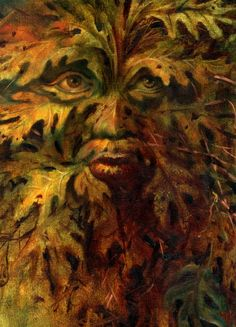 The Green Man Green Man, Green And Orange, Man Images, Woodland Creatures, Forest Creatures, Gods And Goddesses, Faeries, Illustrators, Old Things