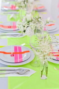 colourful diner table