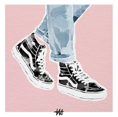 weekly art fix by Lena Hrnt.Your weekly art fix by Lena Hrnt. Art Sketches, Art Drawings, Sneakers Wallpaper, Shoe Art, Art Shoes, Art Inspo, Art Photography, Illustration Art, Artsy