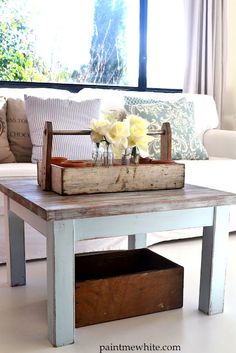 Paint Me White: Beach House Coffee Table