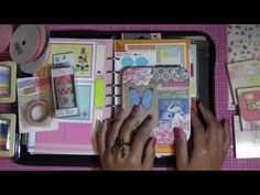 ▶ What I use to decorate my Faux Filofax Organizer - YouTube
