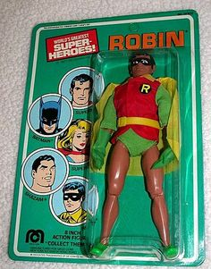 ROBIN MEGO 1977 DC COMICS INC. 8 INCH ACTION FIGURE! VINTAGE WGSH BATMAN PARTNER