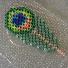 Perler/Hama Peacock feather