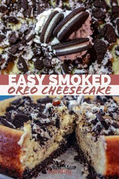 grilled desserts The best dessert I've made on my smoker. Smoked Oreo Cheesecake is easy to make, and is the perfect finish to any barbecue meal. Traeger Recipes, Smoked Meat Recipes, Grilling Recipes, Barbecue Recipes, Vegetarian Grilling, Healthy Grilling, Oven Recipes, Barbecue Sauce, Vegetarian Food