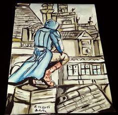Assassin's creed unity #watercolor #art #painting #assassinscreed #assassinscreedunity #arnodorian #artassassincreed #artwatercolor #artinstagram #watercolorinstagram #paintinstagram #kawaiiassassins #kawaiiart #kawaiiwatercolor #myart (●´∀`●)
