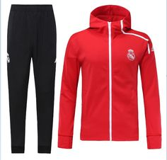 topjersey provides cheap and quality Real Madrid Red Soccer Jacket Uniform With Hat-LH with the information of price, image, size, style and others, easy for you to buy! Real Madrid Jacket, Soccer Hoodies, Soccer Jerseys, Chelsea, Real Madrid Soccer, Track Suit Men, Athletic, Mens Clothing Styles, Mens Suits