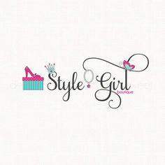 fashion logo design shoe logo design crown by stylemesweetdesign Logo Fleur, Logo Desing, Fashion Logo Design, Boutique Logo, Creative Logo, Logo Design Inspiration, Style Inspiration, Business Design, Logo Branding