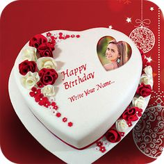 Amir HannaName Photo On Birthday Cake