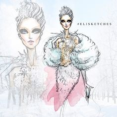 #elistjohn - WINTER   Spring   Summer   Fall ❄️⛄️ #elisketches #fashionillustration