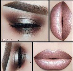 MakeUp Inspiration Lipstick Eyeshadow Eyebrows Rosé