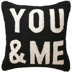 You And Me Hook Pillow (425 ARS) ❤ liked on Polyvore featuring home, home decor, throw pillows, pillows and set of 2 throw pillows
